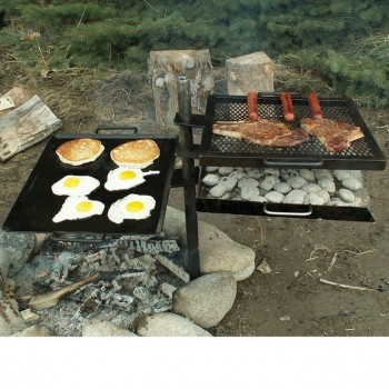 Mountain Man Grill Griddle Camping Charcoal Camp Fire BBQ
